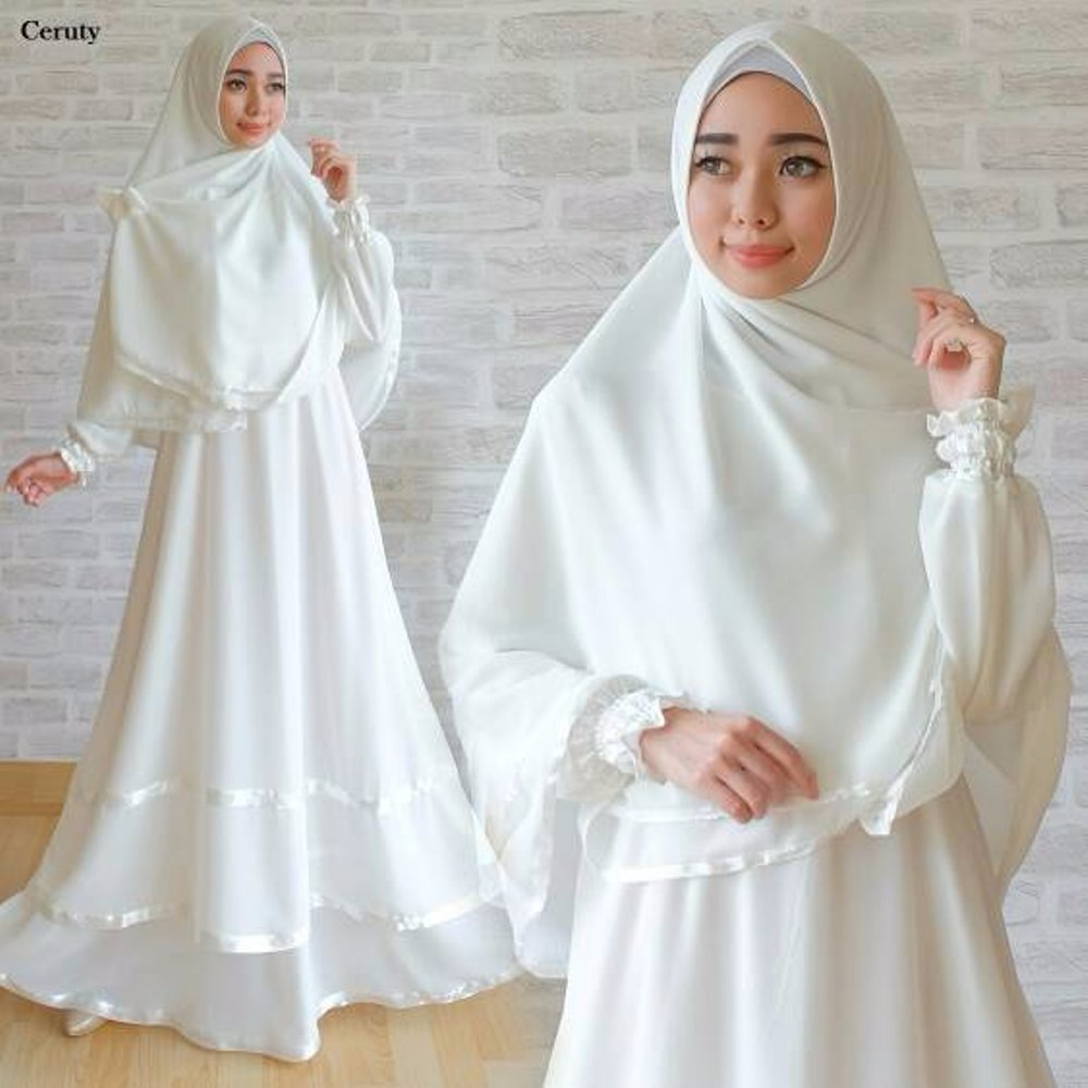 Mix and Match Gamis Putih Polos: Model Baju Terbaru - Bundadzakiyyah