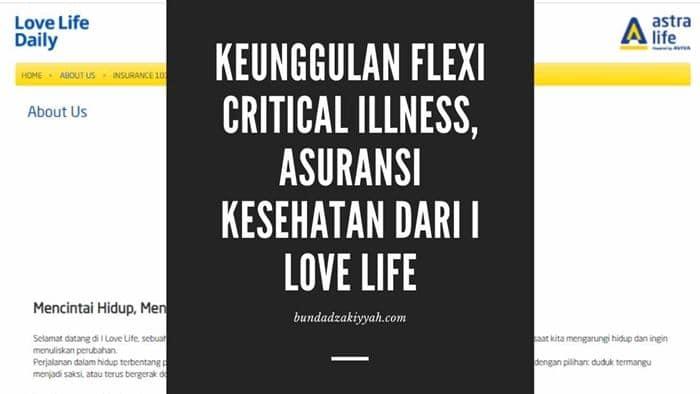 keunggulan flexi critical illness