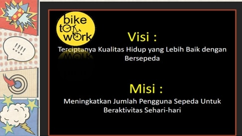visi dan misi komunitas Bike to Work