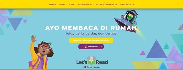 membaca nyaring lewat aplikasi